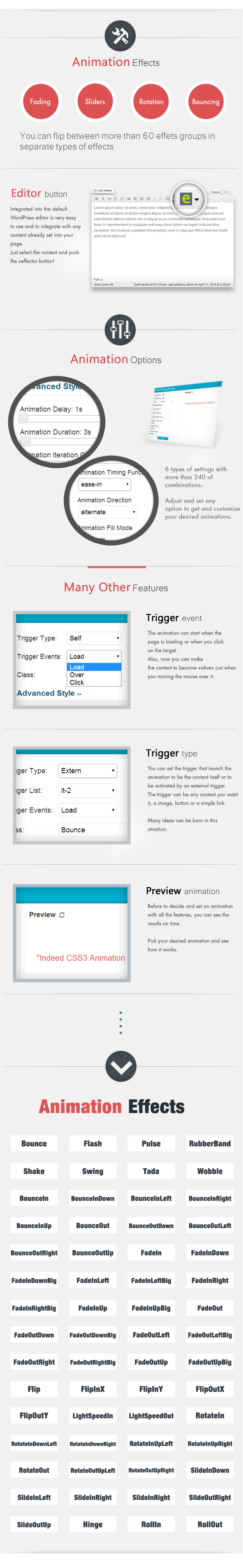 Animation CSS3 Effects WordPress Plugin - 4